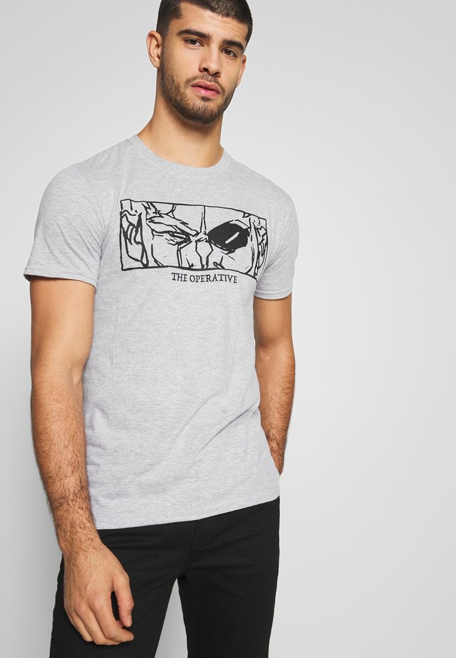 BORDERLANDS TEE - Printtipaita - heather grey