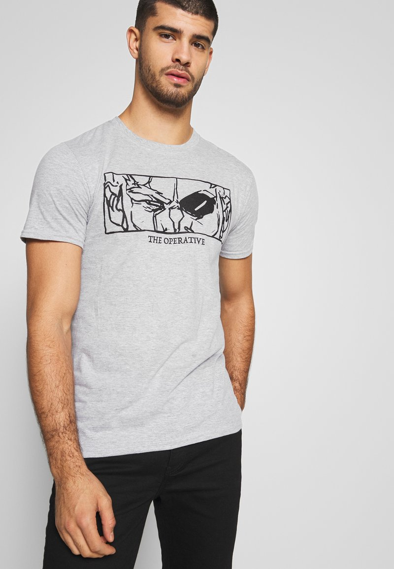 Bioworld - BORDERLANDS TEE - Printtipaita - heather grey