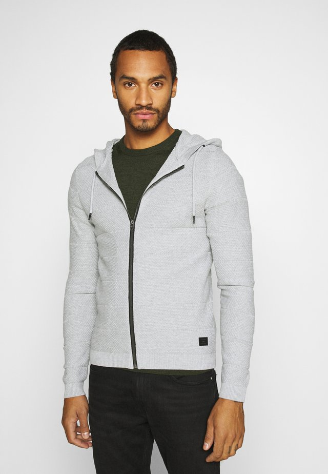 JCOSNOW HOOD CARDIGAN - Trui - light grey melange