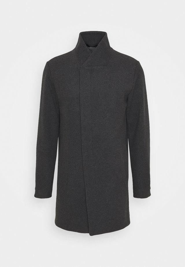 JJECOLLUM COAT  - Classic coat - dark grey melange