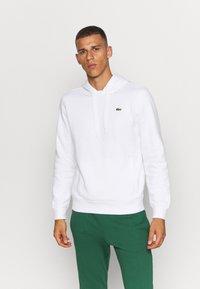 Lacoste Sport - CLASSIC HOODIE - Hoodie - white - 0