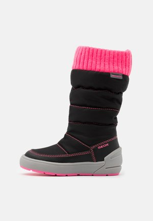 SLEIGH GIRL ABX - Winter boots - black/fluo fuchsia