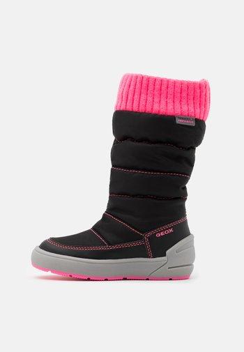 SLEIGH GIRL ABX - Zimní obuv - black/fluo fuchsia