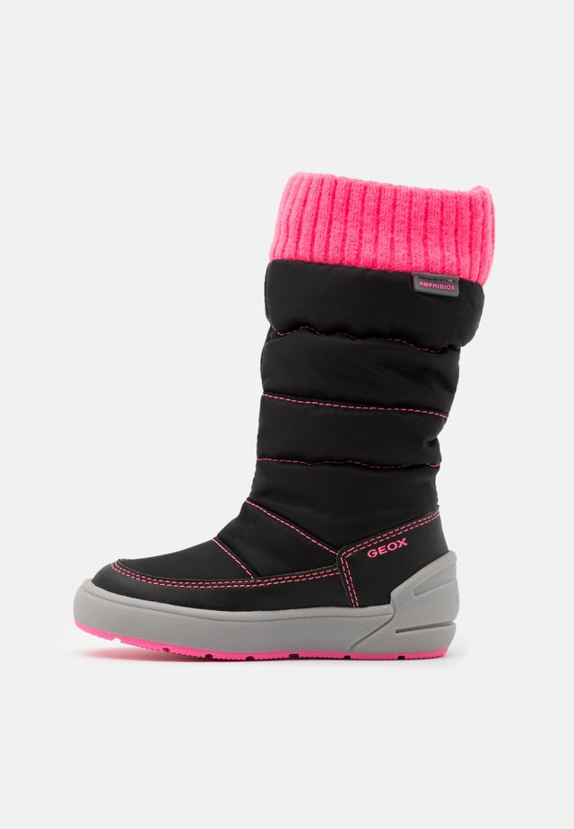 SLEIGH GIRL ABX - Stivali da neve  - black/fluo fuchsia