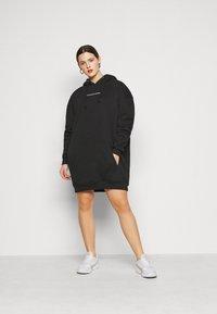 Missguided Plus - HOODIE DRESS - Day dress - black - 1
