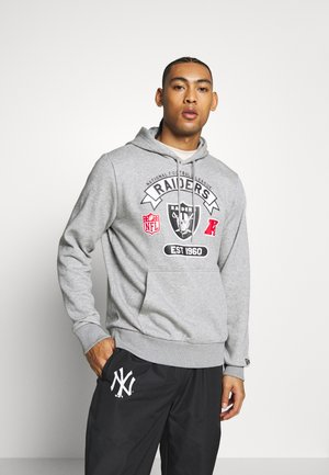 NFL GRAPHIC HOODY OAKLAND RAIDERS - Klubbkläder - grey