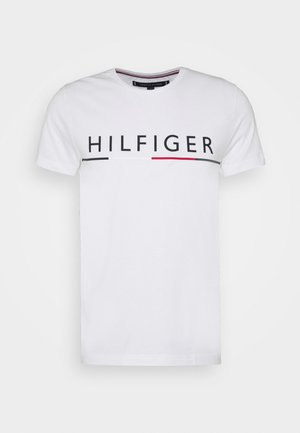 GLOBAL STRIPE TEE - T-shirt imprimé - white