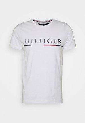 GLOBAL STRIPE TEE - T-shirt con stampa - white