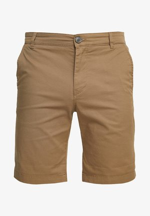 SLHSTRAIGHT PARIS - Shorts - camel