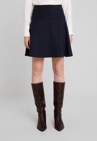 Re.draft - SKIRT - A-line skirt - dark navy - 4