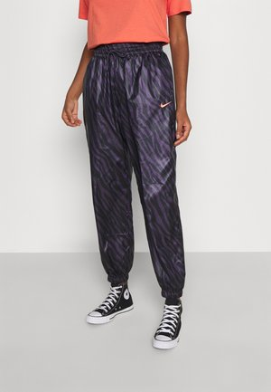 Tracksuit bottoms - dark raisin/bright mango