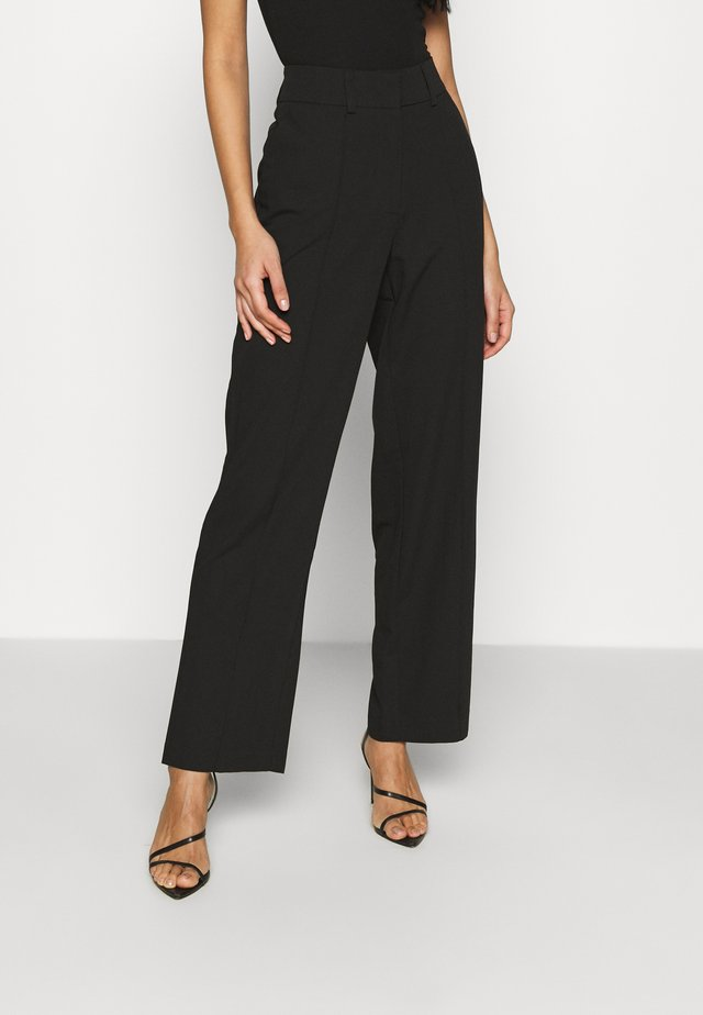 SLIT SUIT PANTS - Broek - black