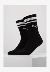 CREW HERITAGE STRIPE  2 PACK - Ponožky - black