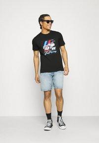Puma - BMW VINTAGE TEE - Print T-shirt - black - 1