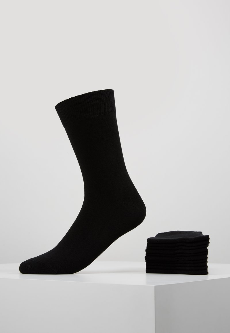 Pier One - 10 PACK - Chaussettes - black