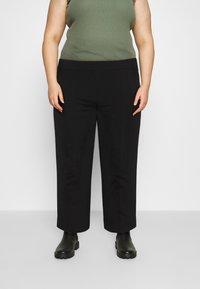 Vero Moda Curve - VMETHA CULOTTE PANT - Bukse - black - 0