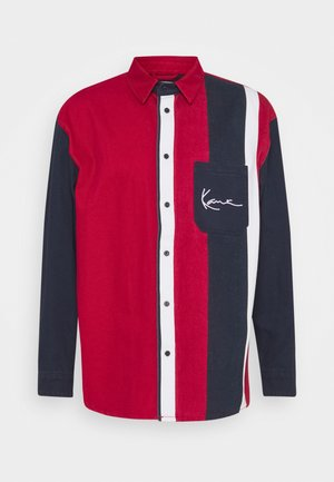 SMALL SIGNATURE BLOCK STRIPE - Shirt - navy