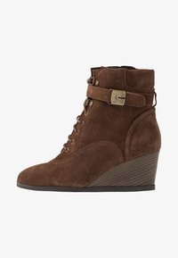 Scholl - LIDEAN  - Wedge Ankle Boots - brown - 1