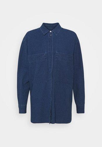 KARA - Button-down blouse - mid blue