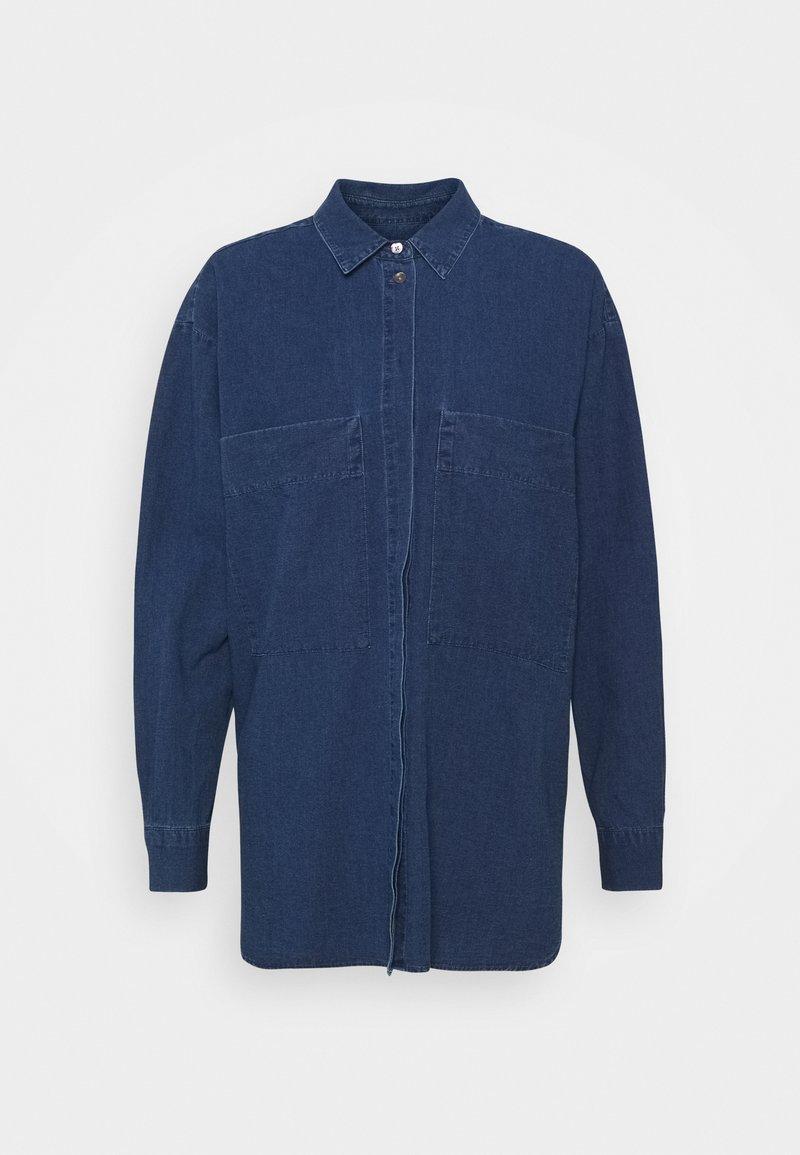CLOSED - KARA - Button-down blouse - mid blue