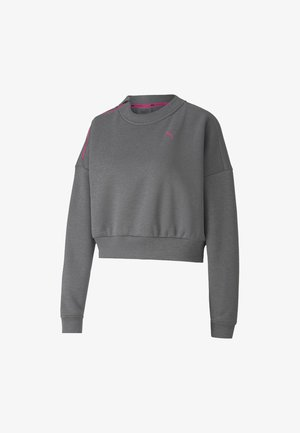 TRAIN BRAVE ZIP CREW - Sweater - medium gray heather