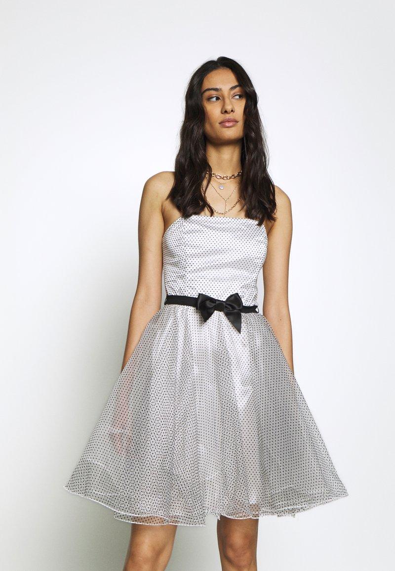 Swing Cocktailkleid/festliches Kleid - weiß/schwarz ...