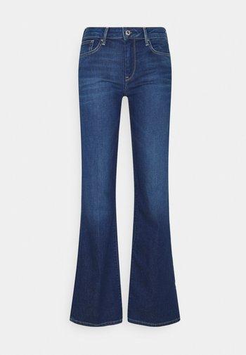 AUBREY - Flared Jeans - blue denim