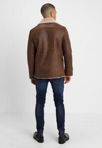 Pier One - Faux leather jacket - brown - 2