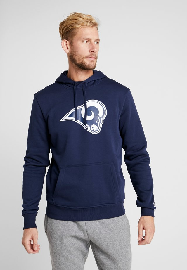 NFL LOS ANGELES RAMS LOGO HOODIE - Club wear - navy