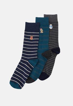 3 PACK - Socks - mottled blue/mottled grey/teal