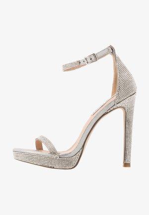 MILANO - Højhælede sandaletter / Højhælede sandaler - silver