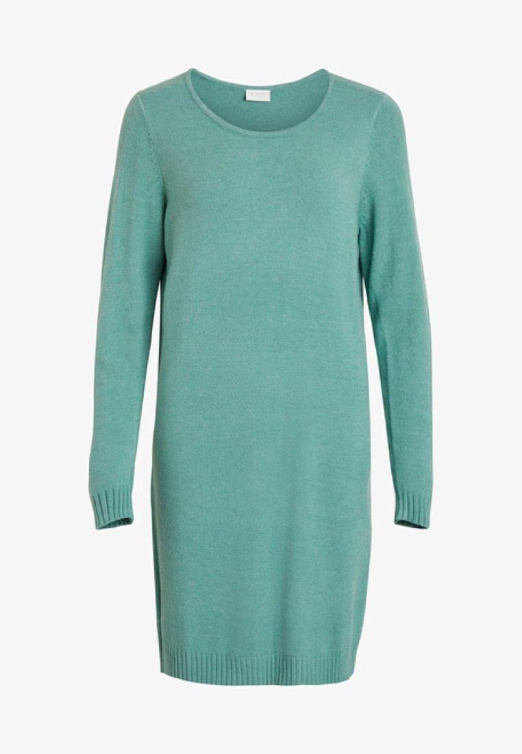 Vila VIRIL DRESS - Strickkleid - medium grey melange/grau-meliert v67Yal