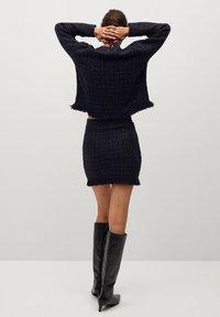 Mango - CHABELI - Mini skirt - dunkles marineblau - 2