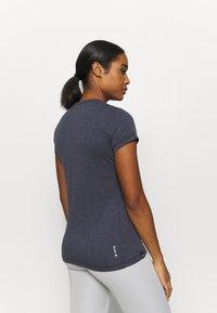 Salewa - SOLID DRY - T-shirt con stampa - premium navy melange - 2