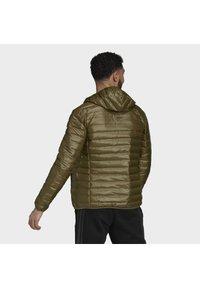 adidas Performance - VARILITE HOODED DOWN JACKET - Winter jacket - focus olive - 2