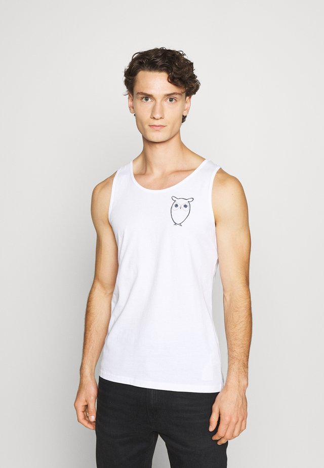 PALM OWL CHEST TANK - Top - white