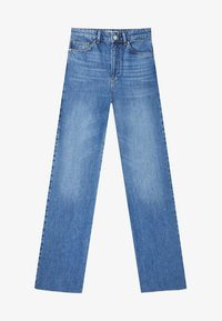 Stradivarius - Jeansy Straight Leg - blue denim - 4