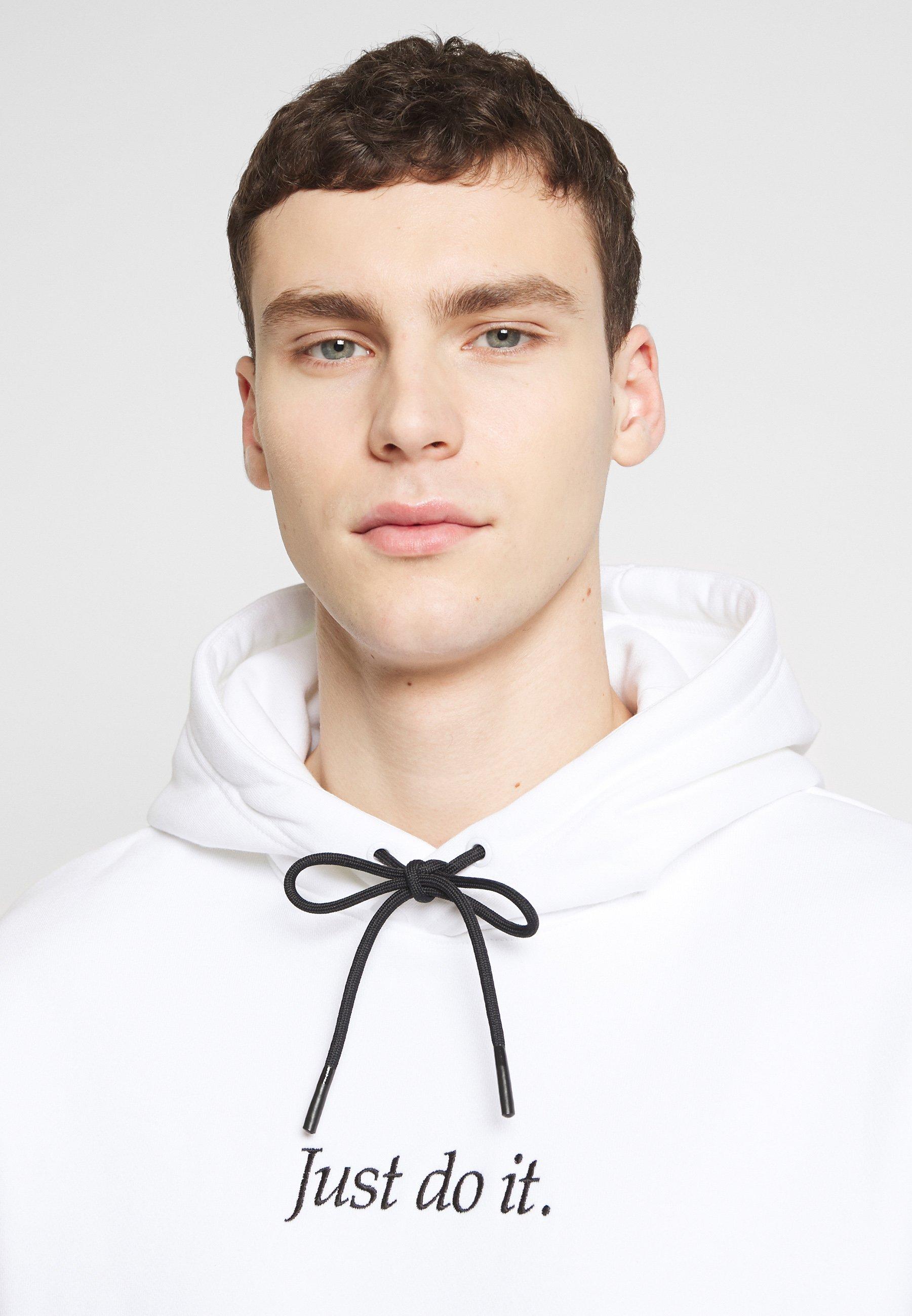 Nike Sportswear HOODIE - Sweat à capuche - white/black