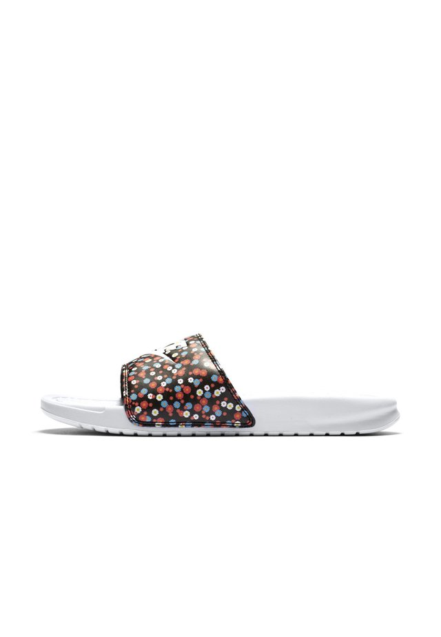 BENASSI JDI PRINT - Mules - white/black/magic ember/white