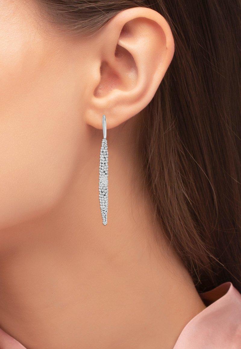 Heideman - PERTU - Earrings - silberfarben poliert