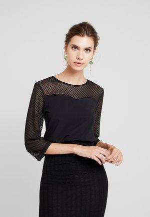 DOT TEE - Bluzka z długim rękawem - black