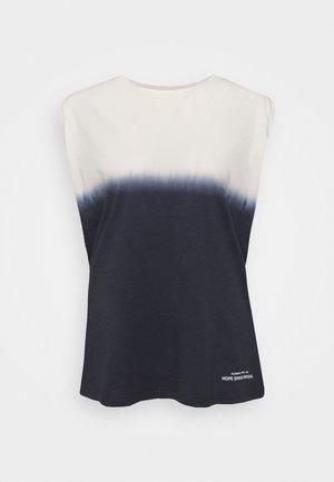 TANK - Linne - ink blue/white