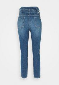 7 for all mankind - PAPERBAG PANT LEFHANRES - Slim fit jeans - mid blue - 1