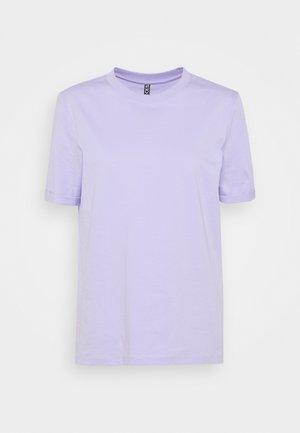 PCRIA FOLD UP SOLID TEE - Basic T-shirt - lavender
