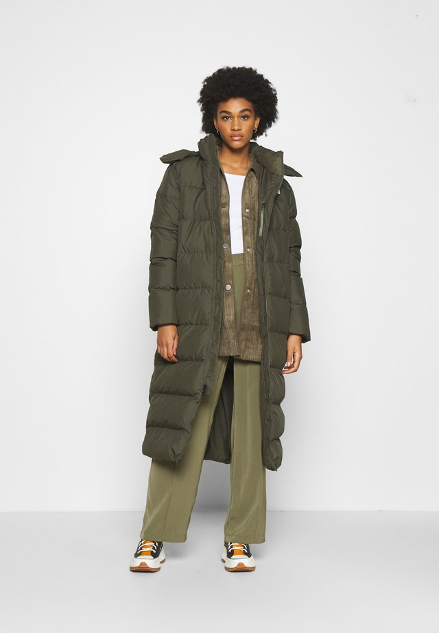 W TRIPLE C PARKA - Down coat - new taupe green