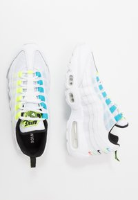 Nike Sportswear - AIR MAX 95 - Trainers - white/volt/blue fury/black - 3