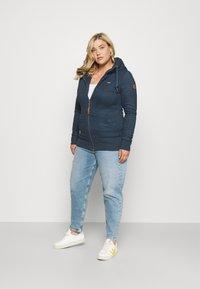 Ragwear Plus - NESKA ZIP - Zip-up sweatshirt - denim blue - 1