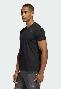 adidas Performance - RESPONSE AEROREADY RUNNING SHORT SLEEVE TEE - T-shirt imprimé - black - 2