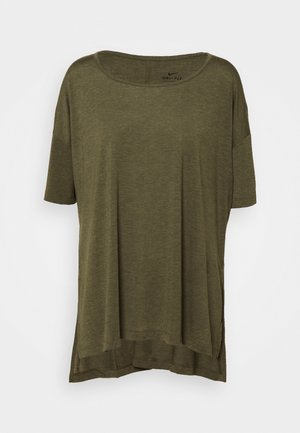 YOGA LAYER PLUS - Basic T-shirt - cargo khaki/medium olive