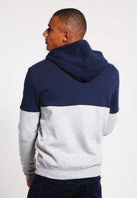 YOURTURN - veste en sweat zippée - mottled grey/dark blue - 2